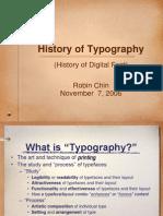 Istorija tipografije