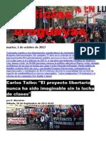 Noticias Uruguayas Martes 1 de Octubre Del 2013