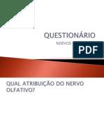 QUESTIONÁRIO NERVOS CRÂNIANOS