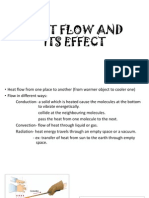 Heat Flow and Its Effect