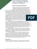 Introduction to UF Jacksonville Emergency Medicine Ultrasound Education