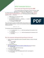 ES Lab2 SW Interrupt Programming