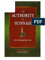 The Authorty of Sunnah