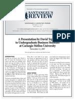 David Tepper's 2007 Presentation at Carnegie Mellon