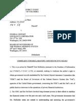 McKinley v Federal Deposit Insurance Corporation Board of Governors of Federal Reserve System #1