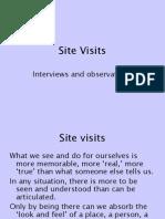 Site Visits.ppt
