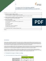 Objectifs et actions 2013-2014 (rapport)