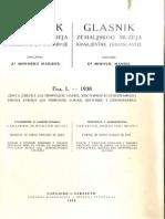 Glasnik Zemaljskog Muzeja Sveska 1938