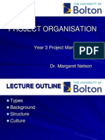Lecture Project Organisation