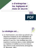 Cours Stratégie d'entreprise - panorama, logiques et mises en œuvre