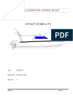 Intact Stability Report