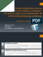 Utilisation de Comsol Multiphysics