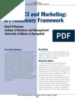 CI and Marketing - A Preliminary Framework