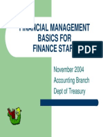 Basics of Fin Mgmt