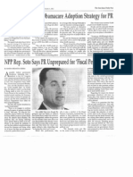 NPP Rep. Soto Says PR Unprepared for Fiscal Perfect Storm