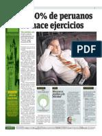 El 60 % de Peruanos No Hace Ejercicios