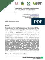 Análise dos Recursos de Crédito do PRONAF Transferidos para o RN dado aos do Brasil entre os anos de 2005 e 2009