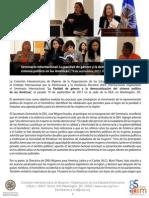 Edición especial CIM/OEA sobre avances en los derechos de ciudadanía de las mujeres