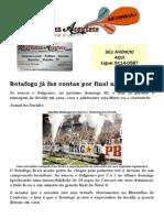 Botafogo já faz contas por final no Almeidão