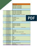 Standard ABAP Training Schedule