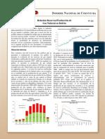 Coy 212 - Relación reservas-producción de gas natural en Bolivia