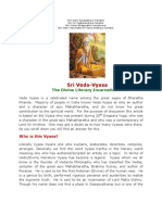Sage Veda Vyasa - The Divine Literary Incarnation of Lord Vishnu