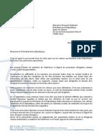Lettre au Président suite aux propose de Manuel Valls sur les Roms