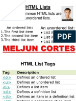 MELJUN CORTES HTMLLists