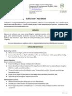 u of a Isoflurane Fact Sheet
