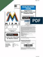 Marlins No-Hitter Ticket