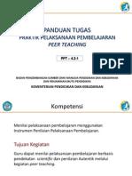 Panduan Tugas Praktik Pembelajaran Melalui Peer Teaching