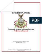 Community Workforce Inmate Program Preliminary Proposal