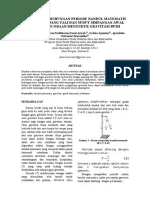 Contoh Laporan Praktikum Fisika Bandul Matematis