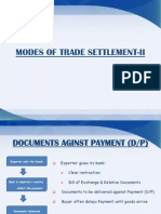 Week modes of settlement