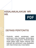 Peritonitis e.c. Perforasi Gaster