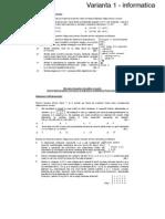 Varinate BAC Informatica 2008