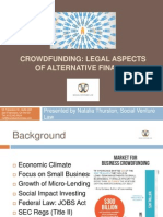 Legal Aspects of Crowdfunding by Natalia Thurston, Social Venture Law