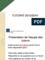 Tutorat de la PACES  2013 2014