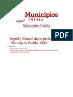 30-09-2013  Municicpios Puebla - Ingrid y Manuel dejan pérdidas por 700 mdp en Puebla, RMV