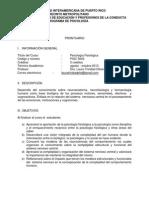 PSYC 5040 Psicología Fisiológica ago - oct 2013