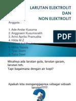 Larutan Elektrolit Ppt Klompok5
