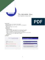 Beamer User Guide, latex