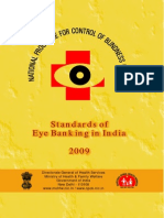 standard of eye banking in India