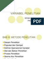 VARIABEL PENELITIAN