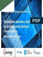Congreso Rehabilitacion Eficiente en Edificios Soluciones Pasivas y Activas en La Envolvente Termica