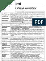 Lexique Du Droit Administratif