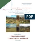 Fisiografia, Suelos y Cum Ayacucho