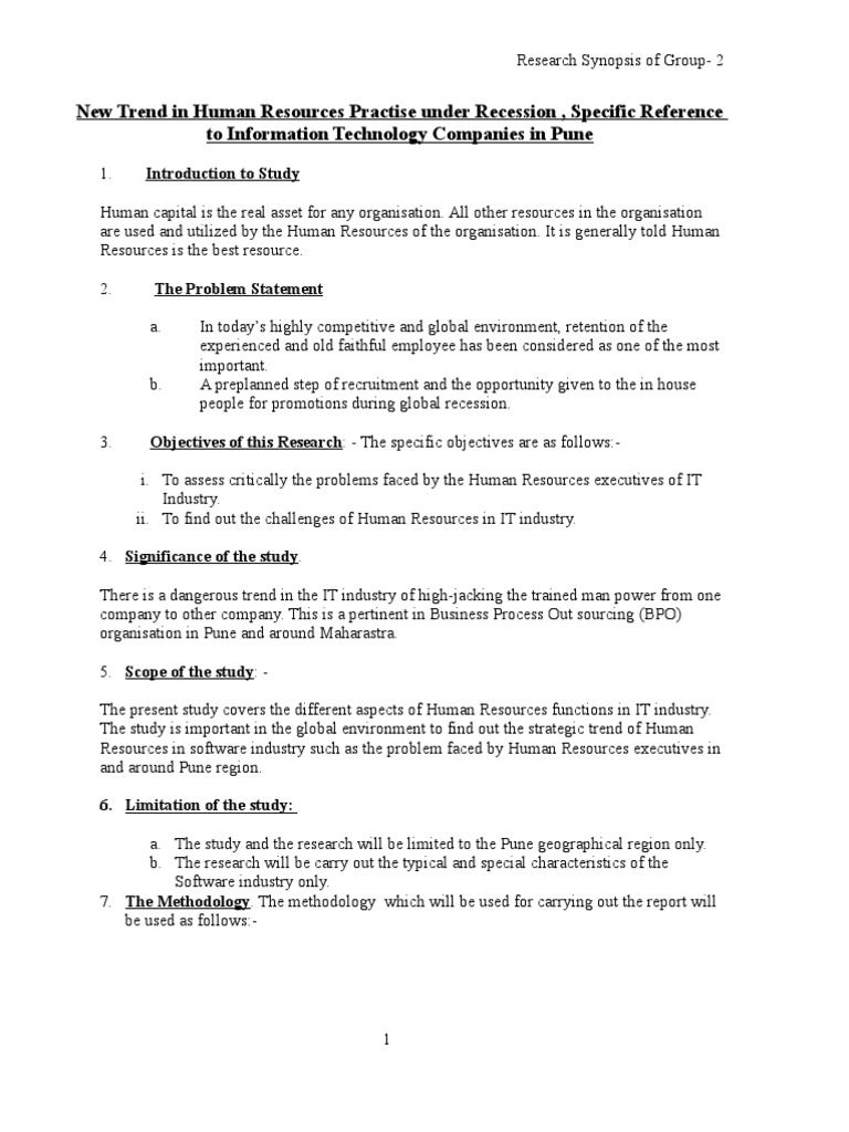 prospectus template for research paper