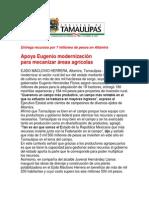 com1354 - 181007 Apoya Eugenio modernización para mecanizar áreas agrícolas
