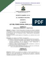 Ley Del Fondo Social Para La Vivienda (Actualizada-07)